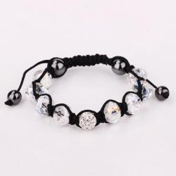 Vienna Jewelry Hand Made Swarovksi Elements Bracelet & Gemstone Beads-Ivory