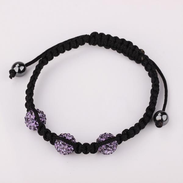 Vienna Jewelry Pave Swarovksi Elements Style Bracelet-Lavender