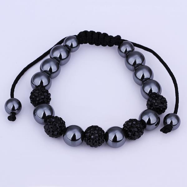 Vienna Jewelry Hand Made Bracelet Stone and Dark Onyx Crystal
