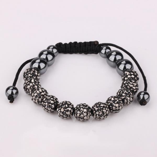 Vienna Jewelry Hand Made Eleven Stone Swarovksi Elements Bracelet- Vivid Bright Onyx