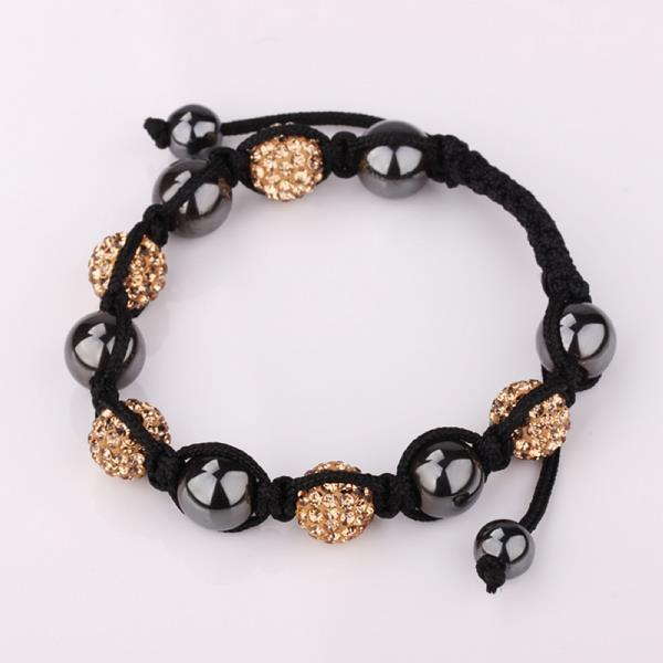Vienna Jewelry Hand Made Swarovksi Elements Bracelet & Crystal Beads-Light Champagne
