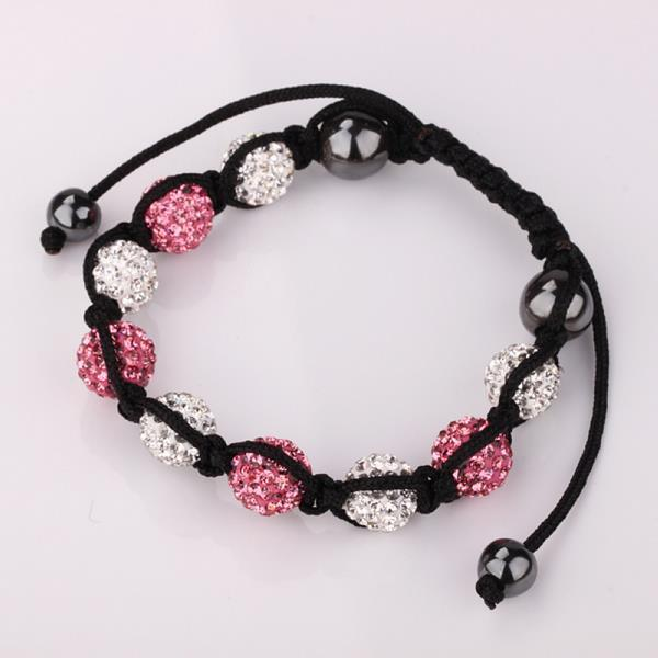 Vienna Jewelry Hand Made Swarovksi Elements Bracelet & Crystal Beads-Light Coral