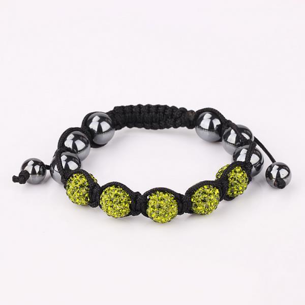 Vienna Jewelry Hand Made Five Stone Swarovksi Elements Bracelet-Dark Emerald
