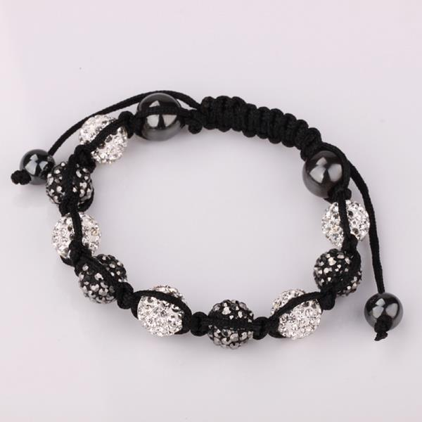 Vienna Jewelry Hand Made Swarovksi Elements Bracelet & Crystal Beads-Light Onyx