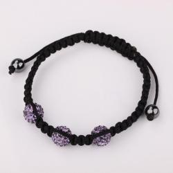 Vienna Jewelry Pave Swarovksi Elements Style Bracelet-Lavender - Thumbnail 0