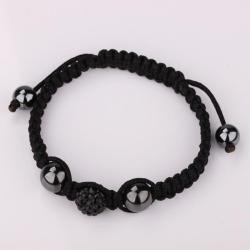 Vienna Jewelry Hand Made Swarovksi Elements Bracelet- Onyx