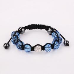 Vienna Jewelry Hand Made Swarovksi Elements Bracelet & Gemstone Beads-Dark Saphire - Thumbnail 0