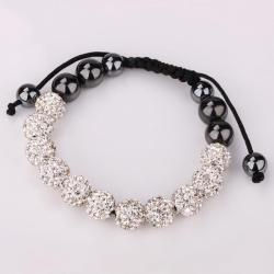 Vienna Jewelry Hand Made Eleven Stone Swarovksi Elements Bracelet- Vibrant Crystal - Thumbnail 0