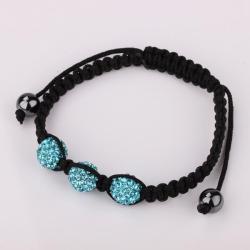 Vienna Jewelry Pave Swarovksi Elements Style Bracelet- Dark Saphire
