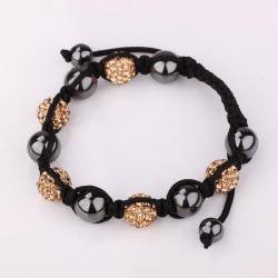 Vienna Jewelry Hand Made Swarovksi Elements Bracelet & Crystal Beads-Light Champagne - Thumbnail 0