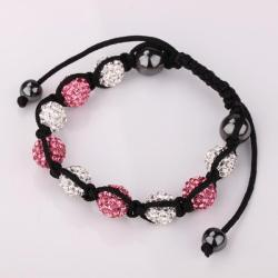 Vienna Jewelry Hand Made Swarovksi Elements Bracelet & Crystal Beads-Light Coral - Thumbnail 0