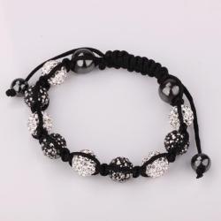 Vienna Jewelry Hand Made Swarovksi Elements Bracelet & Crystal Beads-Light Onyx - Thumbnail 0
