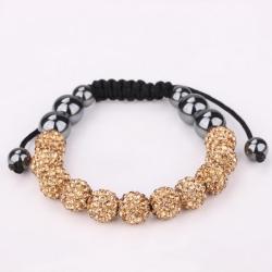 Vienna Jewelry Hand Made Eleven Stone Swarovksi Elements Bracelet- Vibrant Orange Citrine