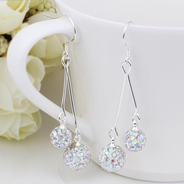 Vienna Jewelry Swarovksi Element Drop Earrings-Ivory