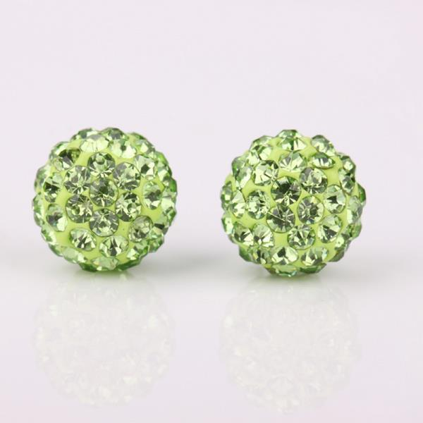 Vienna Jewelry Vivid Light Swarovksi Element Emerald Stud Earrings