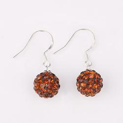 Vienna Jewelry Vivid Light Swarovksi Element Orange Citrine Drop Earrings
