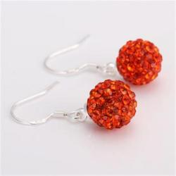 Vienna Jewelry Vivid Light Swarovksi Element Ruby Drop Earrings