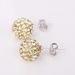 Vienna Jewelry Vivid Light Champagne Swarovksi Element Crystal Stud Earrings