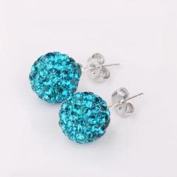 Vienna Jewelry Vivid Dark Saphire Swarovksi Element Crystal Stud Earrings