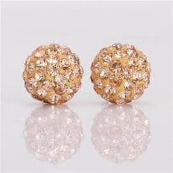 Vienna Jewelry Vivid Light Swarovksi Element Champagne Stud Earrings