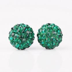 Vienna Jewelry Vivid Vibrant Swarovksi Element Emerald Stud Earrings