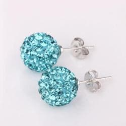 Vienna Jewelry Vivid Light Saphire Swarovksi Element Crystal Stud Earrings