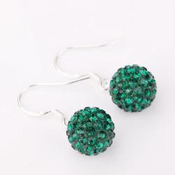 Vienna Jewelry Vivid Royal Swarovksi Element Emerald Drop Earrings