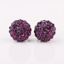 Vienna Jewelry Vivid Light Lavender Swarovksi Element Crystal Stud Earrings