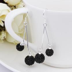 Vienna Jewelry Swarovksi Element Drop Earrings-Onyx - Thumbnail 0
