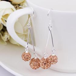 Vienna Jewelry Swarovksi Element Drop Earrings-Orange Citrine - Thumbnail 0