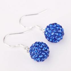 Vienna Jewelry Vivid Royal Swarovksi ElementSaphire Drop Earrings