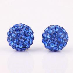 Vienna Jewelry Vivid Light Swarovksi Element Saphire Stud Earrings