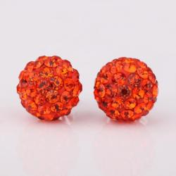 Vienna Jewelry Vivid Light Swarovksi Element Ruby Stud Earrings