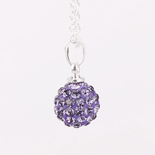Vienna Jewelry Solid Austrian Crystal Element Pendant-Bright Vivd Lavender