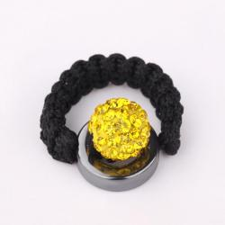 Vienna Jewelry Resizeable Ring made with Austrian Crystal Elements- Yellow Citrine