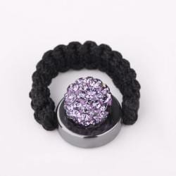 Vienna Jewelry Resizeable Ring made with Austrian Crystal Elements - Lavender