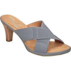 Women's Aerosoles Love Powem Mid Blue Combo Faux Leather/Elastic