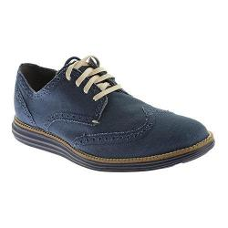 Men's Cole Haan Original Grand Wingtip Canvas Oxford Peacoat Canvas/Navy