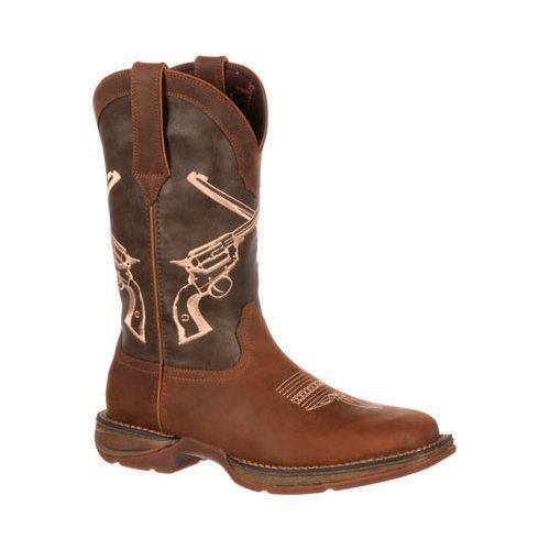 Men's Durango Boot DDB0077 12in Rebel Crossed Guns Boot Tan/Brown