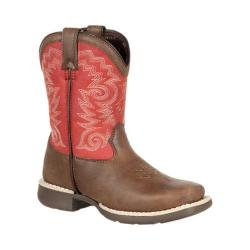 Children's Durango Boot DBT0140 8in Lil' Durango Big Kid Western Boot Brown/Red Leather