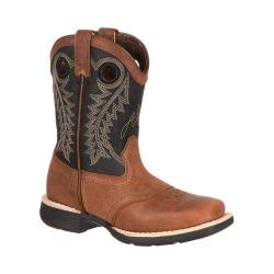 Children's Durango Boot DBT0144 8in Lil' Durango Big Kid Saddle Boot Tan/Black Leather