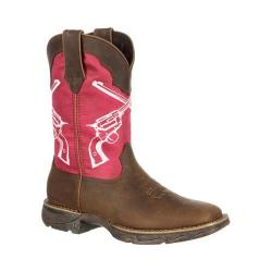 Women's Durango Boot DRD0104 10in Lady Rebel Crossed Revolvers Boot Tan/Pink Leather