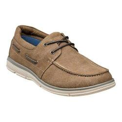 Men's Nunn Bush Zac Boat Shoe Taupe Canvas