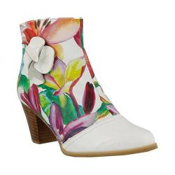 Women's L'Artiste by Spring Step Cheng Bootie White Multi Leather