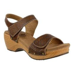 Women's L'Artiste by Spring Step Choko Ankle Strap Sandal Brown Leather