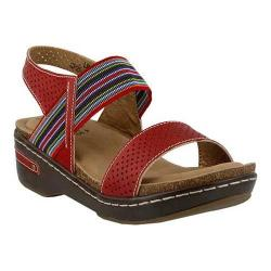 Women's L'Artiste by Spring Step Chow Sandal Red Multi Leather