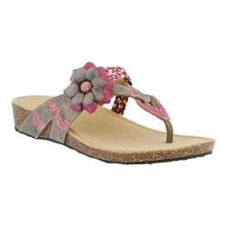 Women's L'Artiste by Spring Step Chunali Thong Sandal Gray Multi Leather