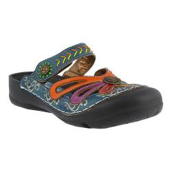 Women's L'Artiste by Spring Step Copa Clog Blue Multi Leather