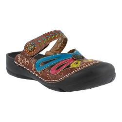 Women's L'Artiste by Spring Step Copa Clog Brown Multi Leather