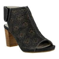Women's L'Artiste by Spring Step Fab Sandal Black Leather